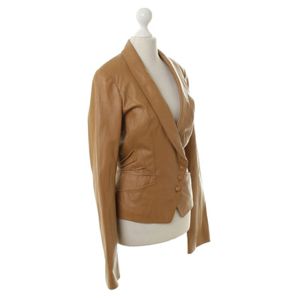 Jitrois Leather jacket in Brown