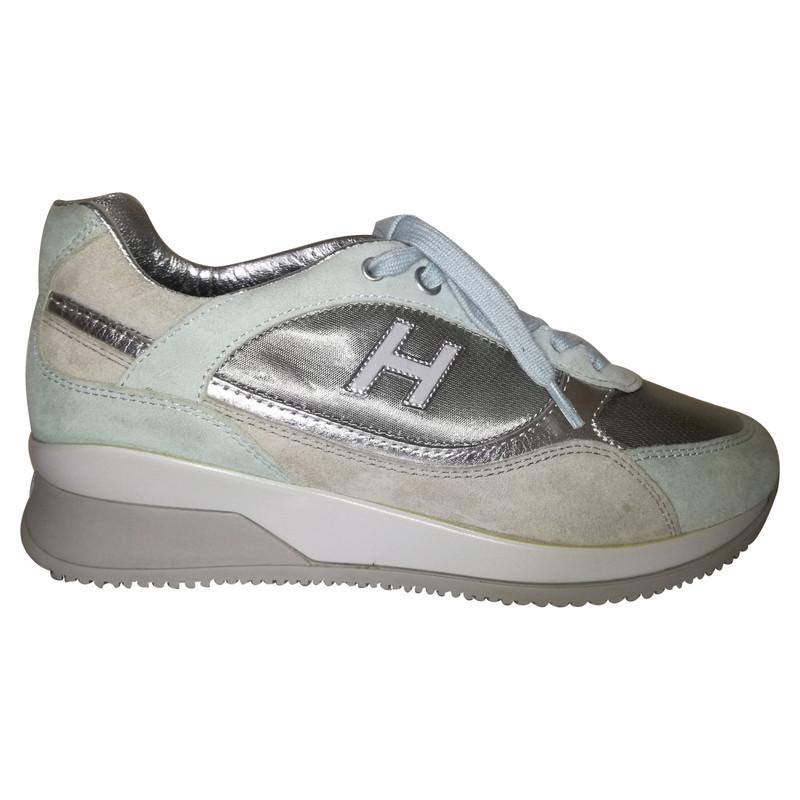 Hogan scarpe da ginnastica color argento Second hand Hogan