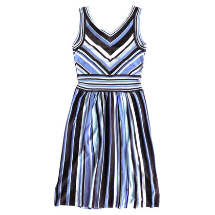 Laurèl Striped dress with glitter
