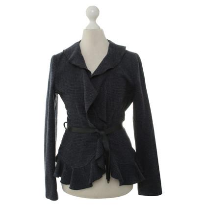 Armani Jeans Blazer di lana strutturata con Balza