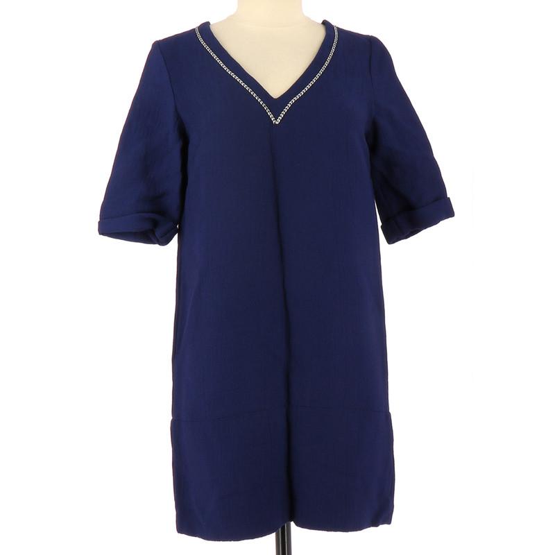 Maje Robe en Viscose en Bleu Acheter Maje Robe en Viscose