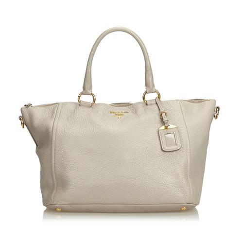 b15fd8b1039159 Prada Shoulder bag Leather in Beige - Second Hand Prada Shoulder bag ...