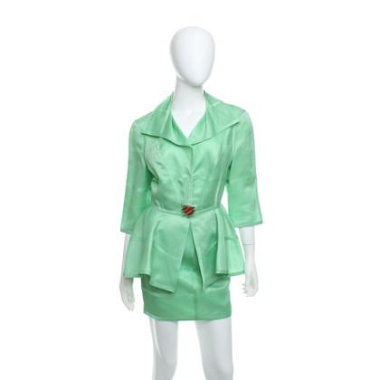 Mugler Silk costume in green