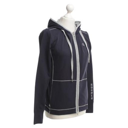 Bogner Sweatshirt jas in blauw