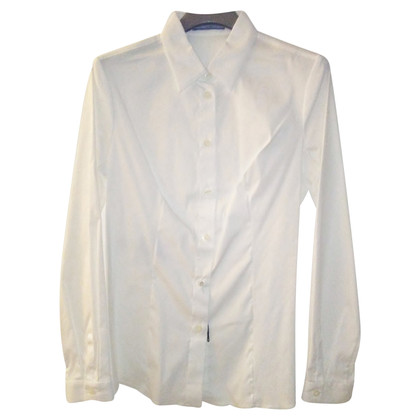 Prada Camicia Popeline stretch bianca tg.44