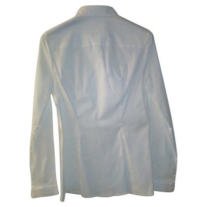 Prada White stretch poplin shirt tg.44