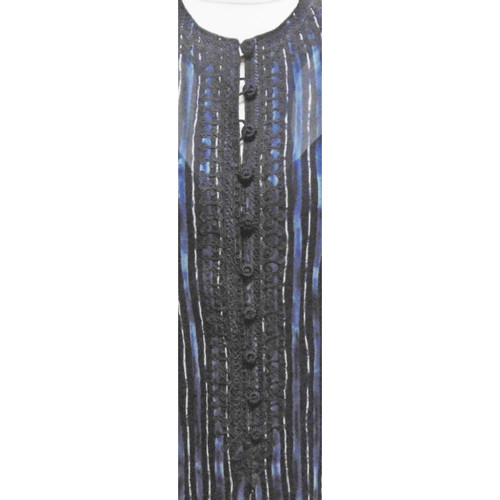 6bdb5c7d11564 Oscar de la Renta Suit Silk in Blue - Second Hand Oscar de la Renta ...