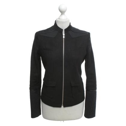 Maje Jacket in black / blue