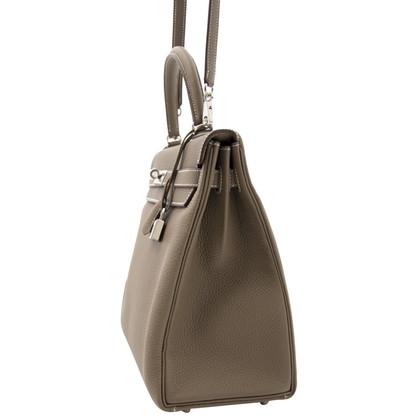 "Hermès ""Kelly Bag 35 Togo Etoupe PHW"""
