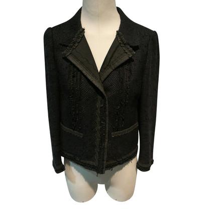 Prada Boucle blazer nero