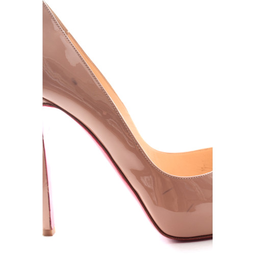 reputable site 4a901 31925 Christian Louboutin Pumps/Peeptoes Leather in Nude - Second ...