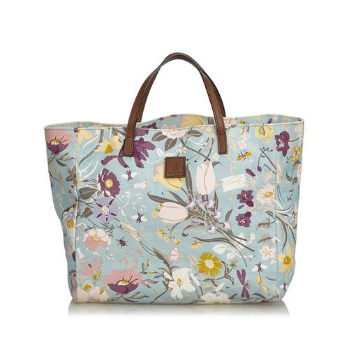 eb93f10e2de Gucci Tote bag Canvas in Blue - Second Hand Gucci Tote bag Canvas in ...
