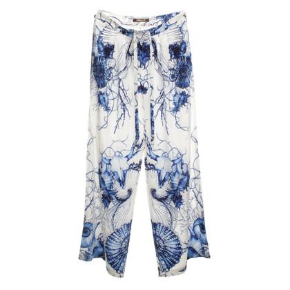 Roberto Cavalli Vloeiende broek met patroon