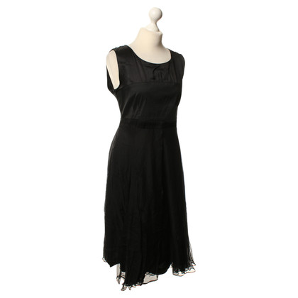 René Lezard Sheath dress in black