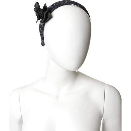 Miu Miu Glitter headband with bow