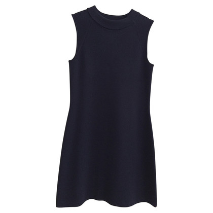 Max Mara Donker blauw gebreide jurk