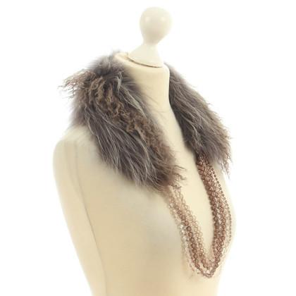 Fabiana Filippi Collo di pelliccia con dettaglio a catena