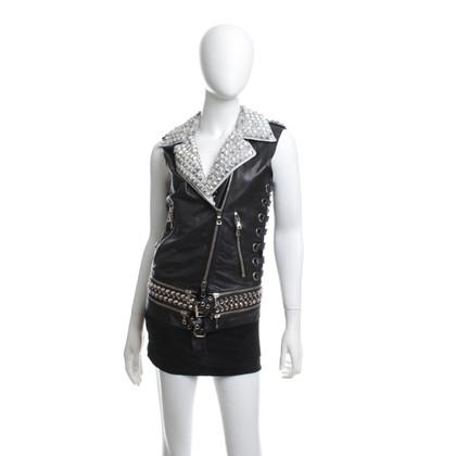 Balmain Leather vest in black