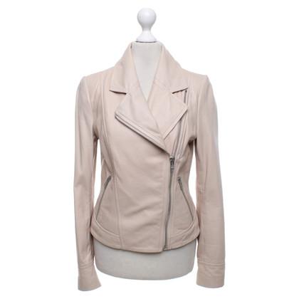 Drykorn Leather jacket in beige