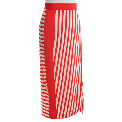 Karen Millen skirt in red / beige