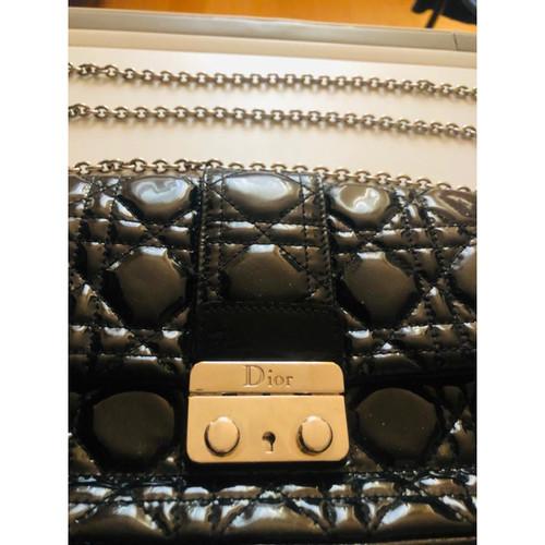 d34d579908 Christian Dior MIss Dior Promenade Clutch Large Patent leather in Black