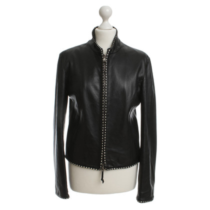 Ermanno Scervino Leather jacket in black