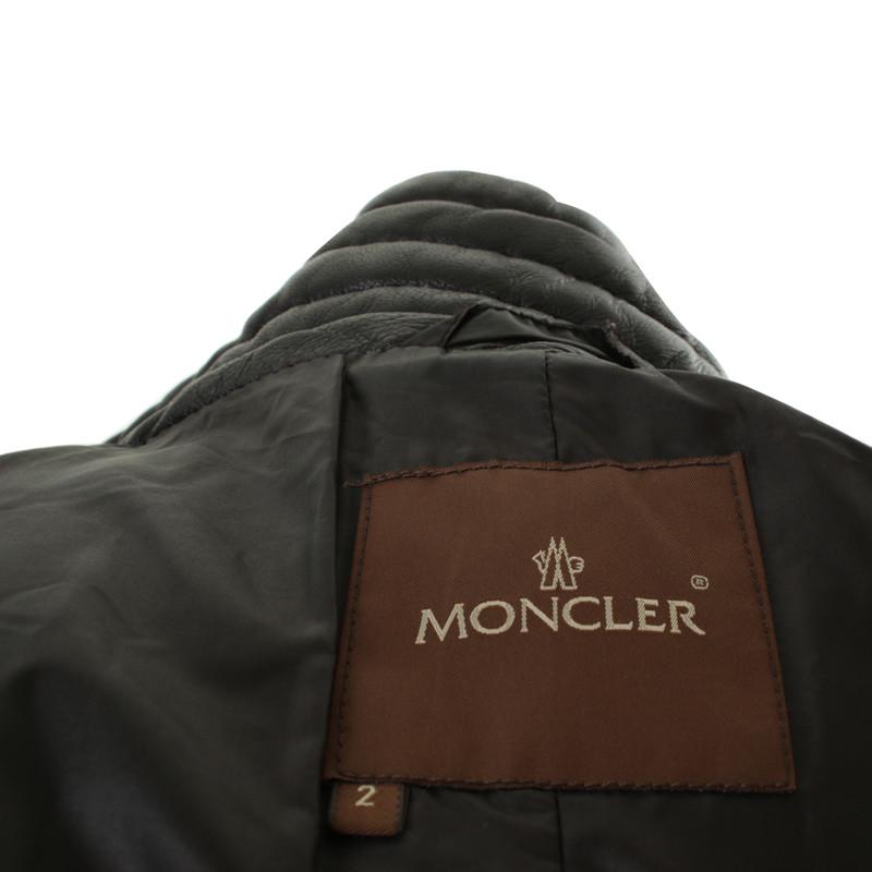 moncler leren jas