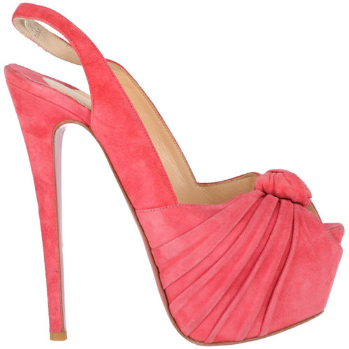 cb079a6e1b92 Christian Louboutin Sandals Suede in Pink - Second Hand Christian ...