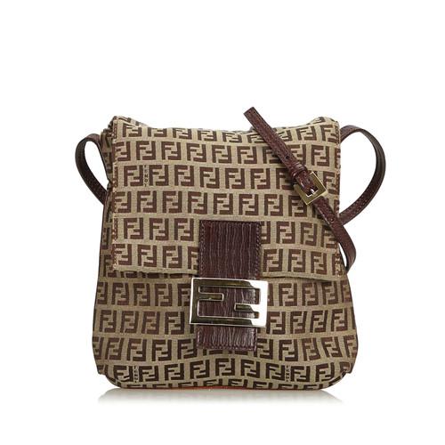 3e737bd40306 Fendi Shoulder bag Canvas in Brown - Second Hand Fendi Shoulder bag ...
