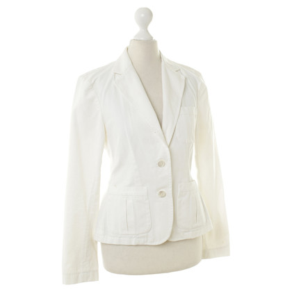 Ralph Lauren cotone bianco Blazer con bottoni di madreperla