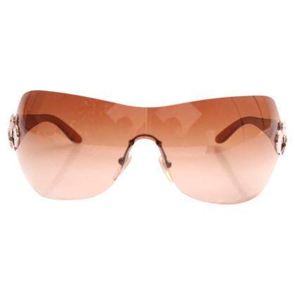 Bulgari Brown 6009 Shield Sunglasses