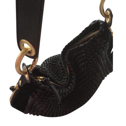 Diane von Furstenberg Schwarze Lederhandtasche