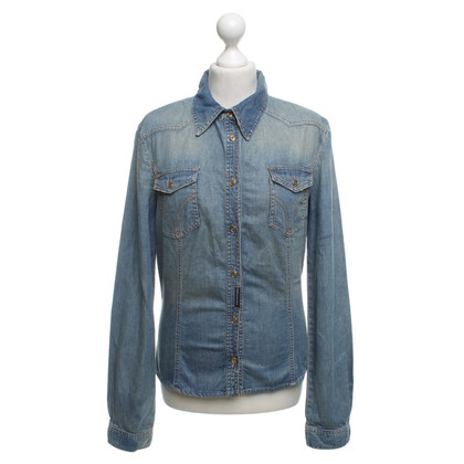 D&G Jeansblouse in used-look