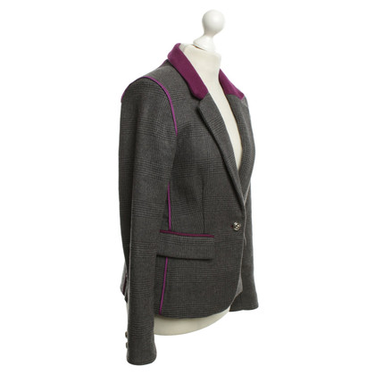 Juicy Couture Check Wool Blazer