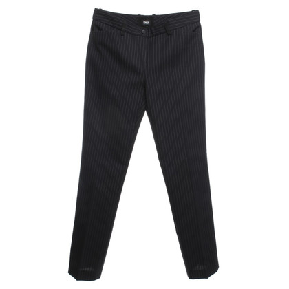 D&G Pinstripe trousers in dark blue