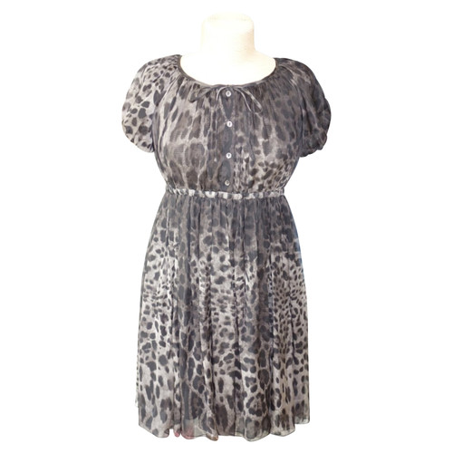 f64d7242 Dolce & Gabbana Silk dress with pattern - Second Hand Dolce ...