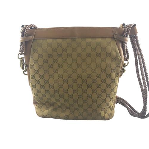 6da21388869 Gucci Shoulder bag Canvas in Brown - Second Hand Gucci Shoulder bag ...
