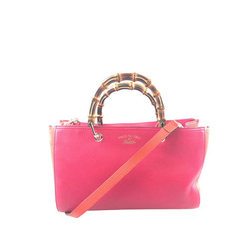2e851db52efd Gucci Bamboo Shopper Leather in Pink - Second Hand Gucci Bamboo ...