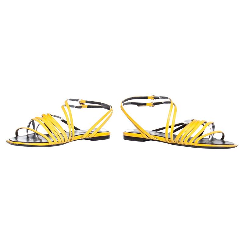 Balenciaga Sandals Leather in Yellow