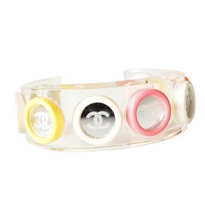 Chanel Bracelet made of acrylic glass with game buttons