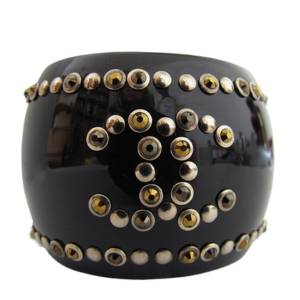 Chanel Bangle with Rhinestones and rivets