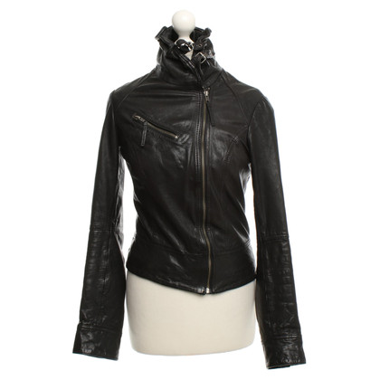 All Saints leather coat