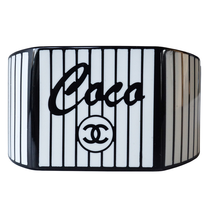 "Chanel ""Coco"" bracelet - black / white"