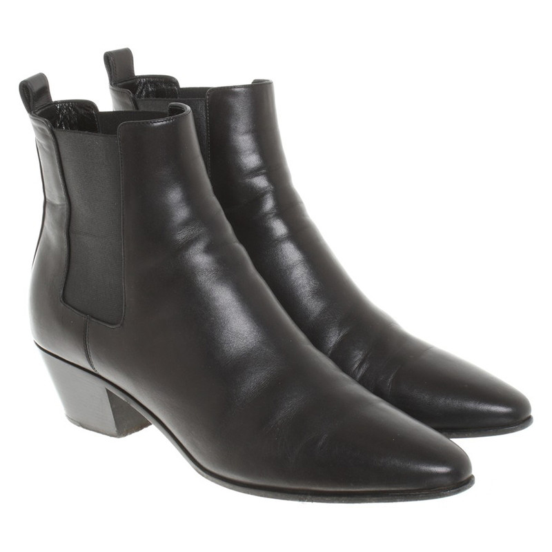 Saint Laurent Black Karina Boots NPd2qCqNd