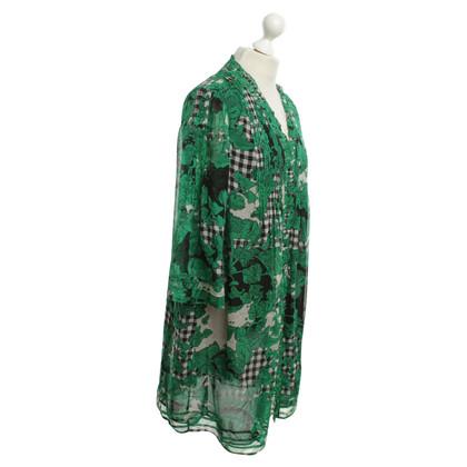 Diane von Furstenberg Seiden-Kleid mit Muster-Mix