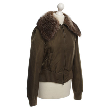 René Lezard Bomber jacket with fur trim