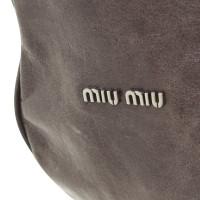 Miu Miu Beuteltasche in Gray