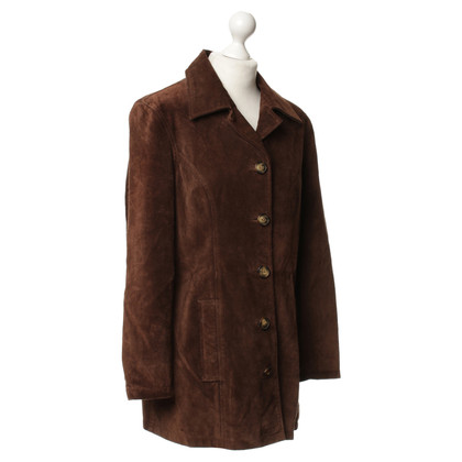 Frye Suede leather coat in Brown