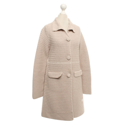 Odd Molly Knitted coat in beige