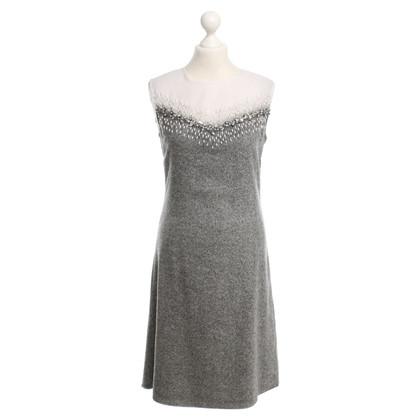 Schumacher Salt and pepper sheath dress with beading